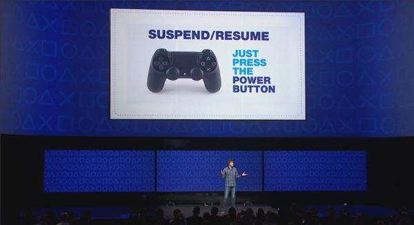 PS4 suspend resume